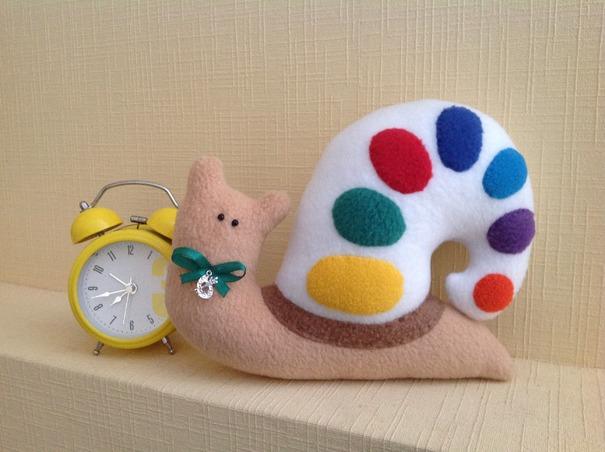 Мастер-класс игрушки из фетра «улитка»