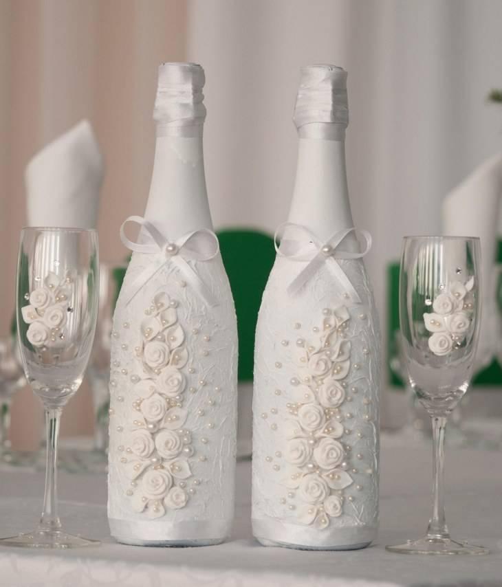 Как украсить бутылку шампанского (100+ идей) на новый 2018 год