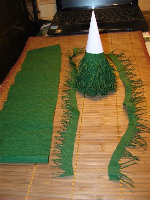 Новогодний мастер-класс по созданию елки из гофрированной бумаги