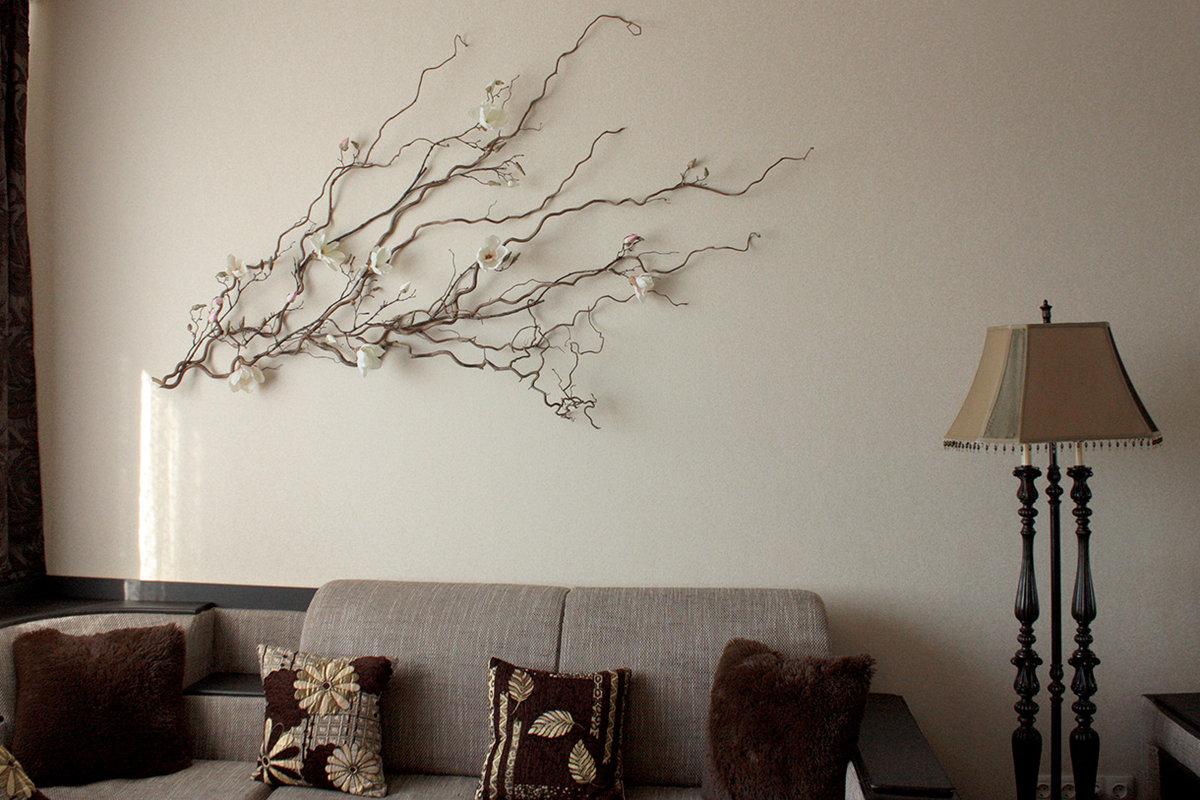 Декор из веток дерева для дома своими руками - 35 фото идей