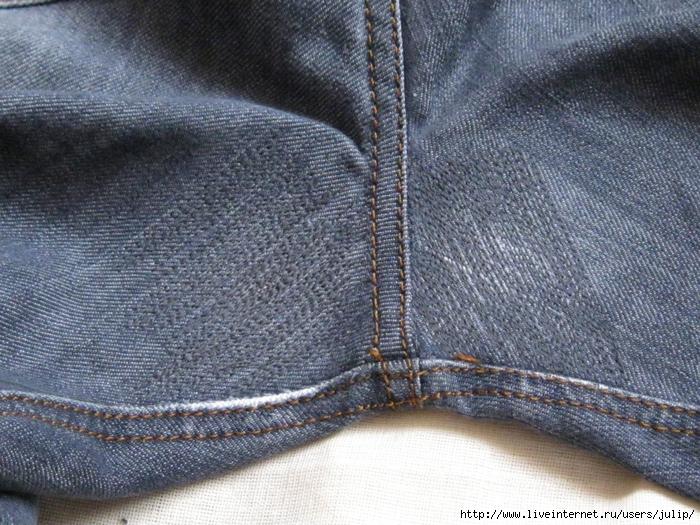 Красиво зашиваем дырки на джинсовых штанах