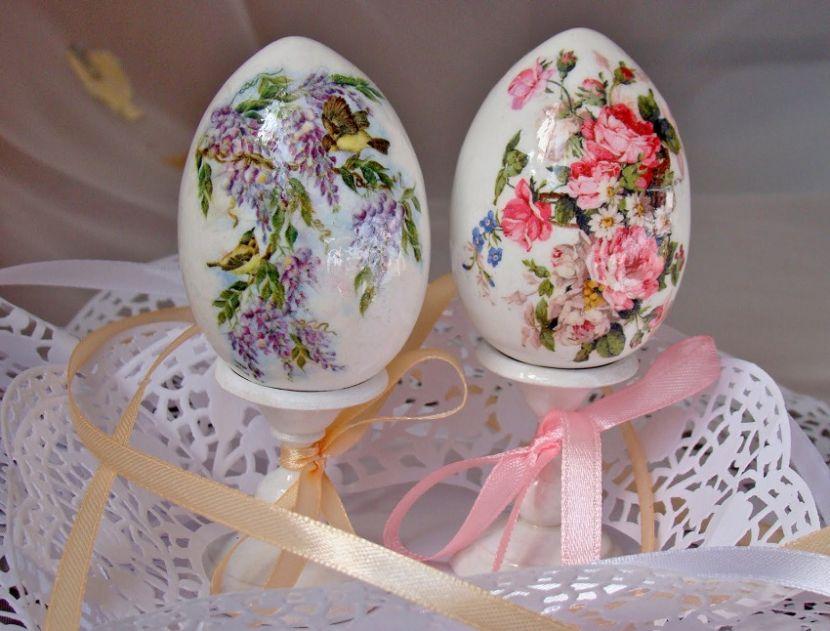 Пасхальные яйца в технике декупаж своими руками: методы и стили