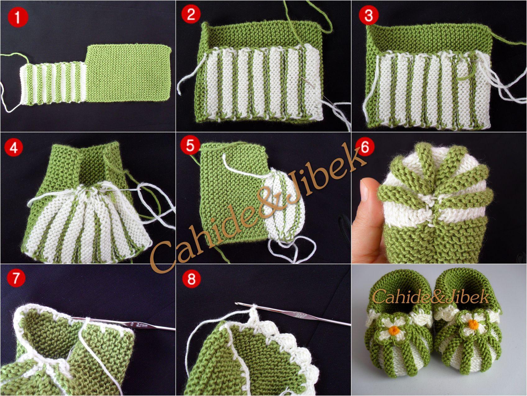 Пинетки - зефирки спицами, 7 авторских описаний со схемами вязания,  вязание для детей