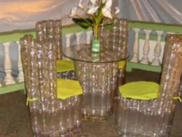 Как сделать пуфик из пластиковых бутылок своими руками: пошагово для начинающих, табурет, стул