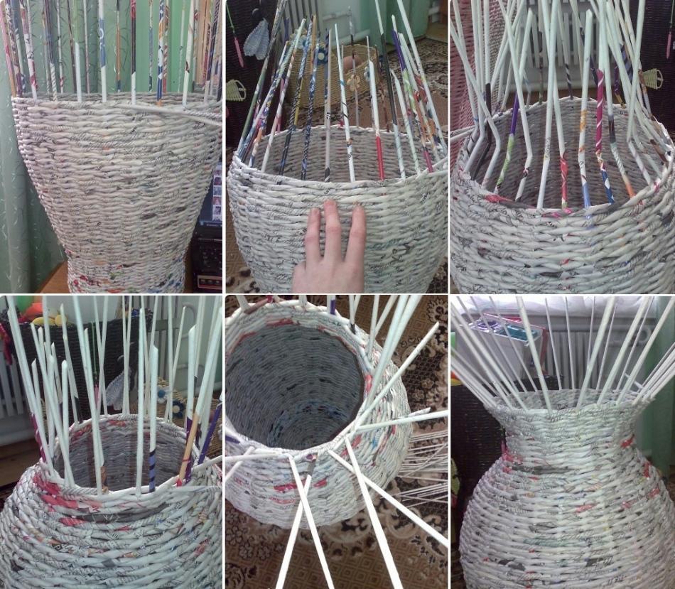 Плетение из бумажной лозы для начинающих: этапы, виды, примеры