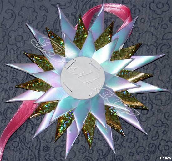 Звезда из атласной ленты. как сделать звезду из ленты атласной на ёлку?