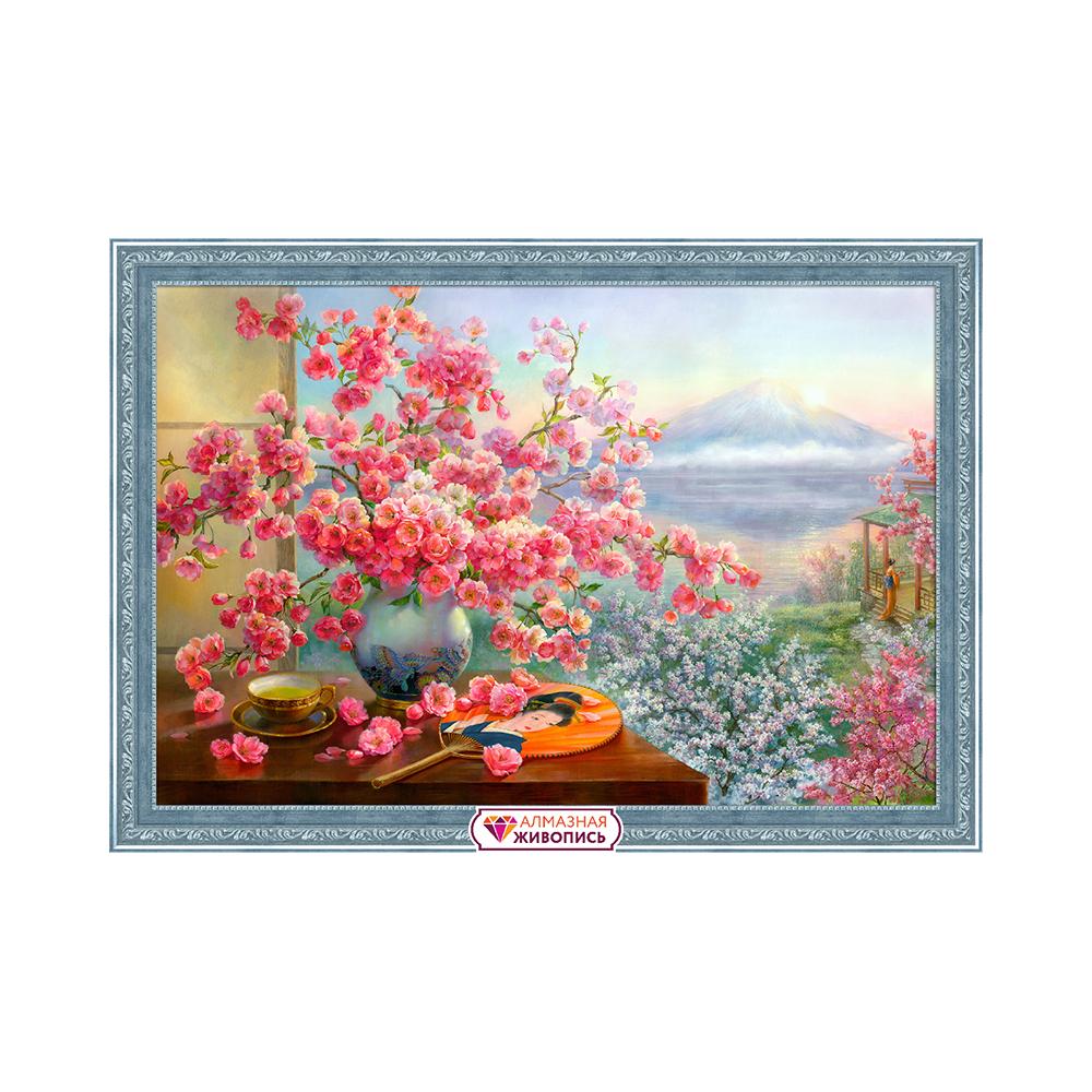 Витражная картина с букетом цветов
