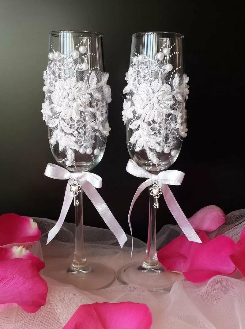 Свадебные бокалы своими руками: мастер-класс, оригинальные идеи украшения
