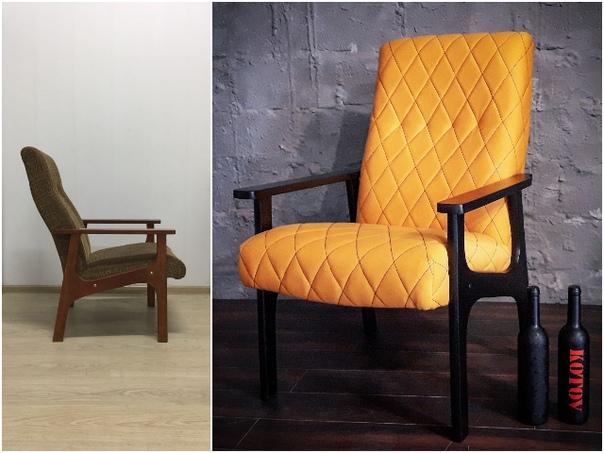 Ремонт и перетяжка старого кресла своими руками