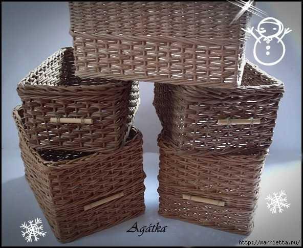 Покупаем или изготавливаем сами – плетёная корзина для белья
