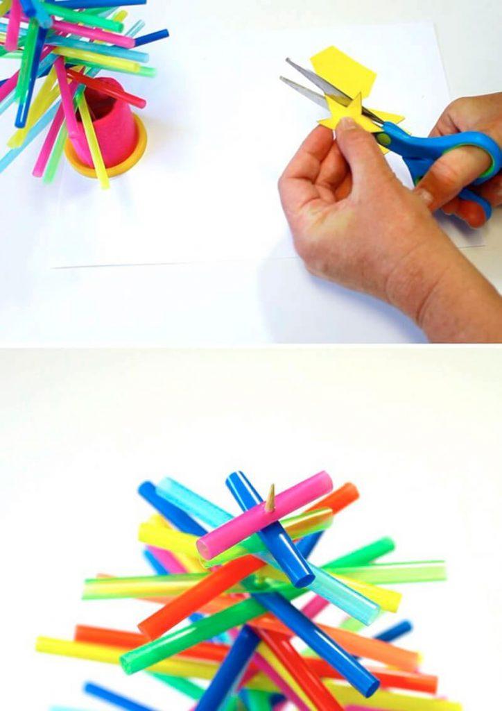 Поделки из трубочек для коктейля своими руками для детей. технология, идеи, мастер-класс, фото