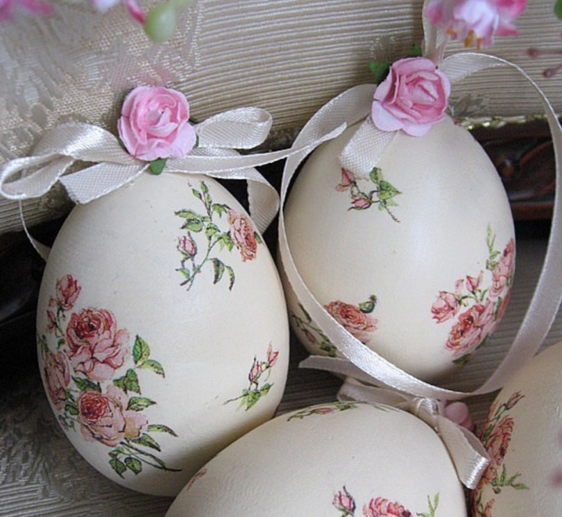 Декупаж пасхальных яиц салфетками своими руками: мастер класс