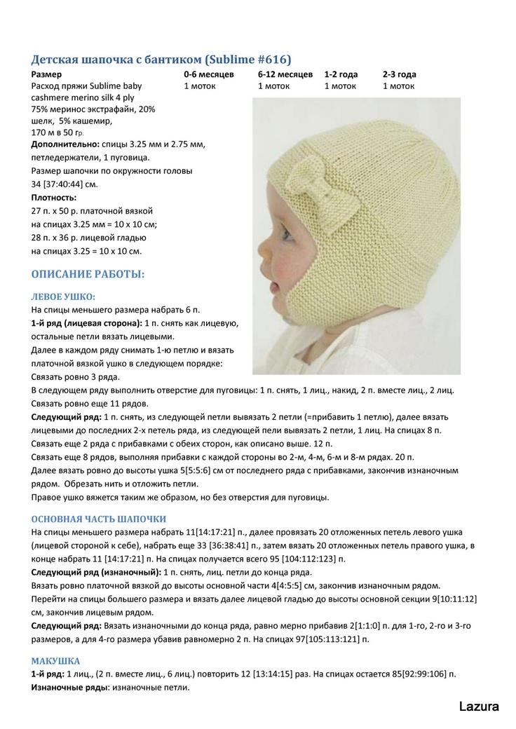 Чепчик спицами для новорожденных. схемы и описание ажурный для девочек, шапочка для мальчиков