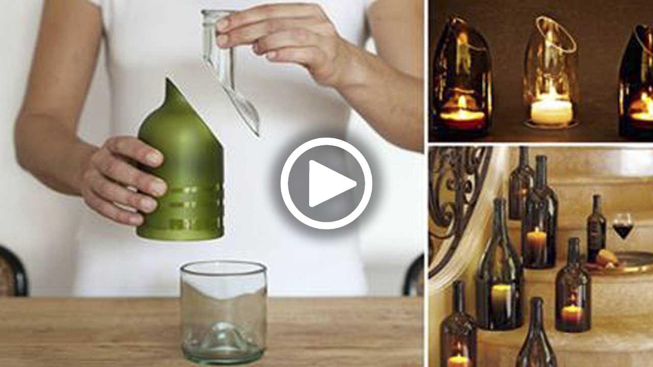 Как разрезать бутылку: 125 фото и мастер-класс нарезки бутылок различных видов