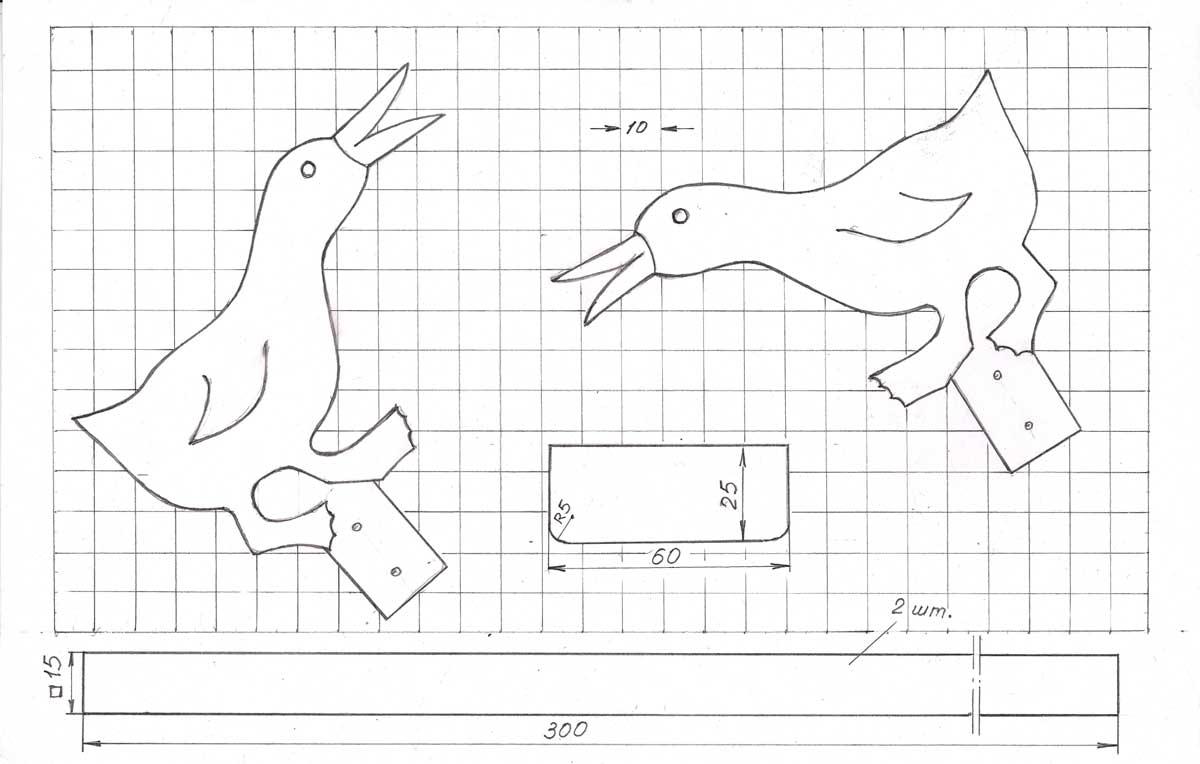 Динамическая игрушка «клюющие птички» своими руками. пошаговая инструкция с фото