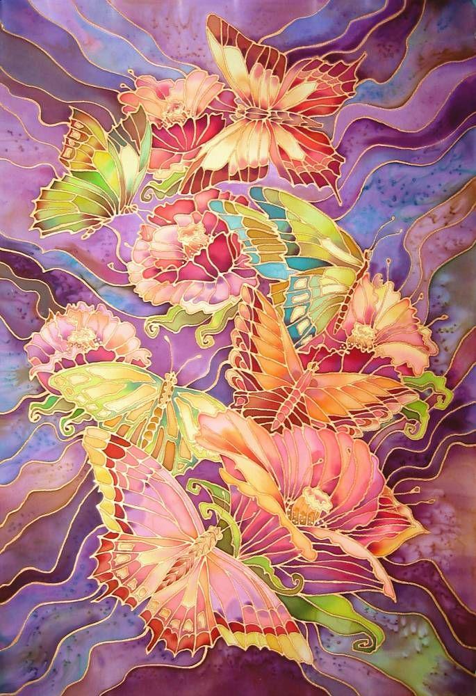 Батик — красивая роспись ткани вручную