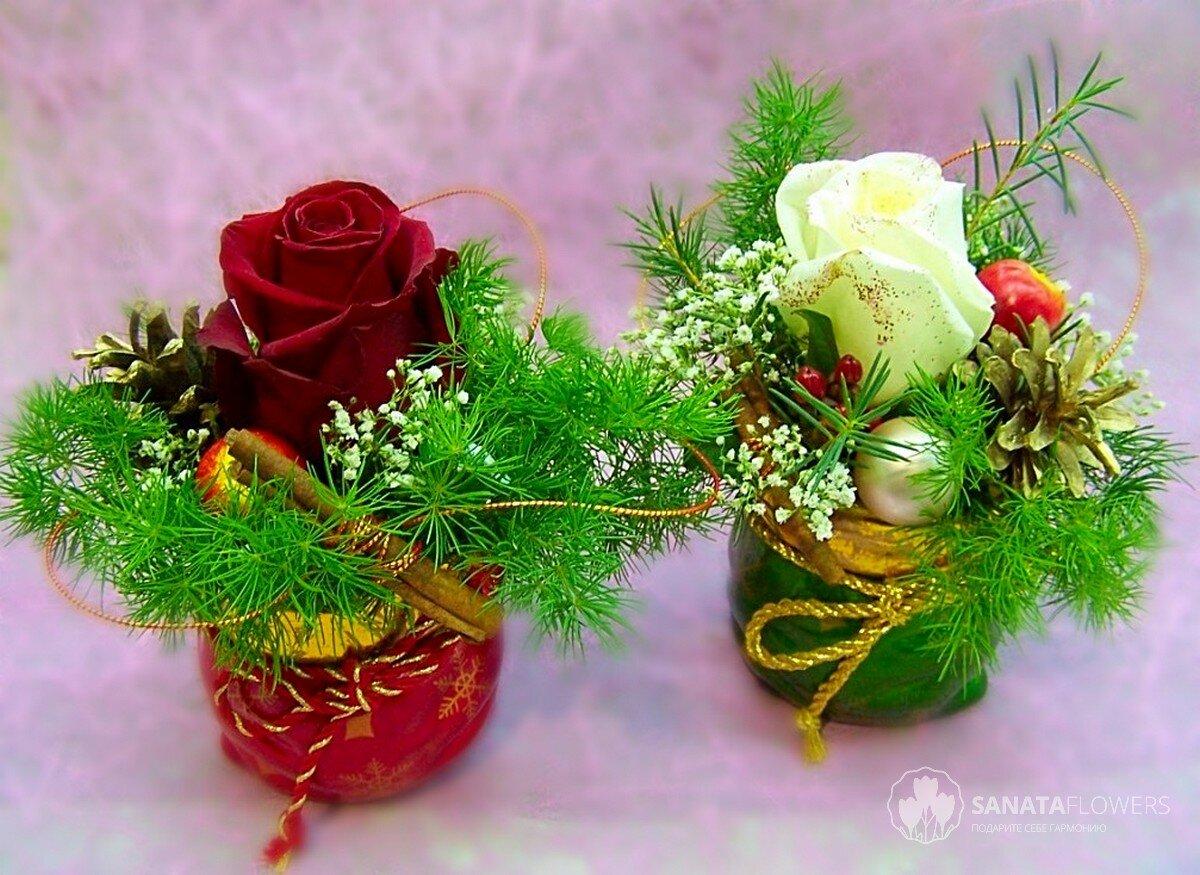 Новогодние композиции своими руками: изготовление из различных материалов   праздник для всех