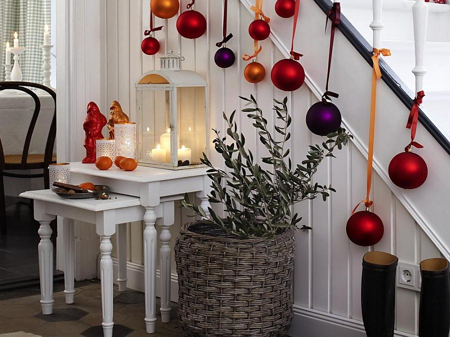 Идеи новогоднего декора интерьера квартиры. украшение дома. фото