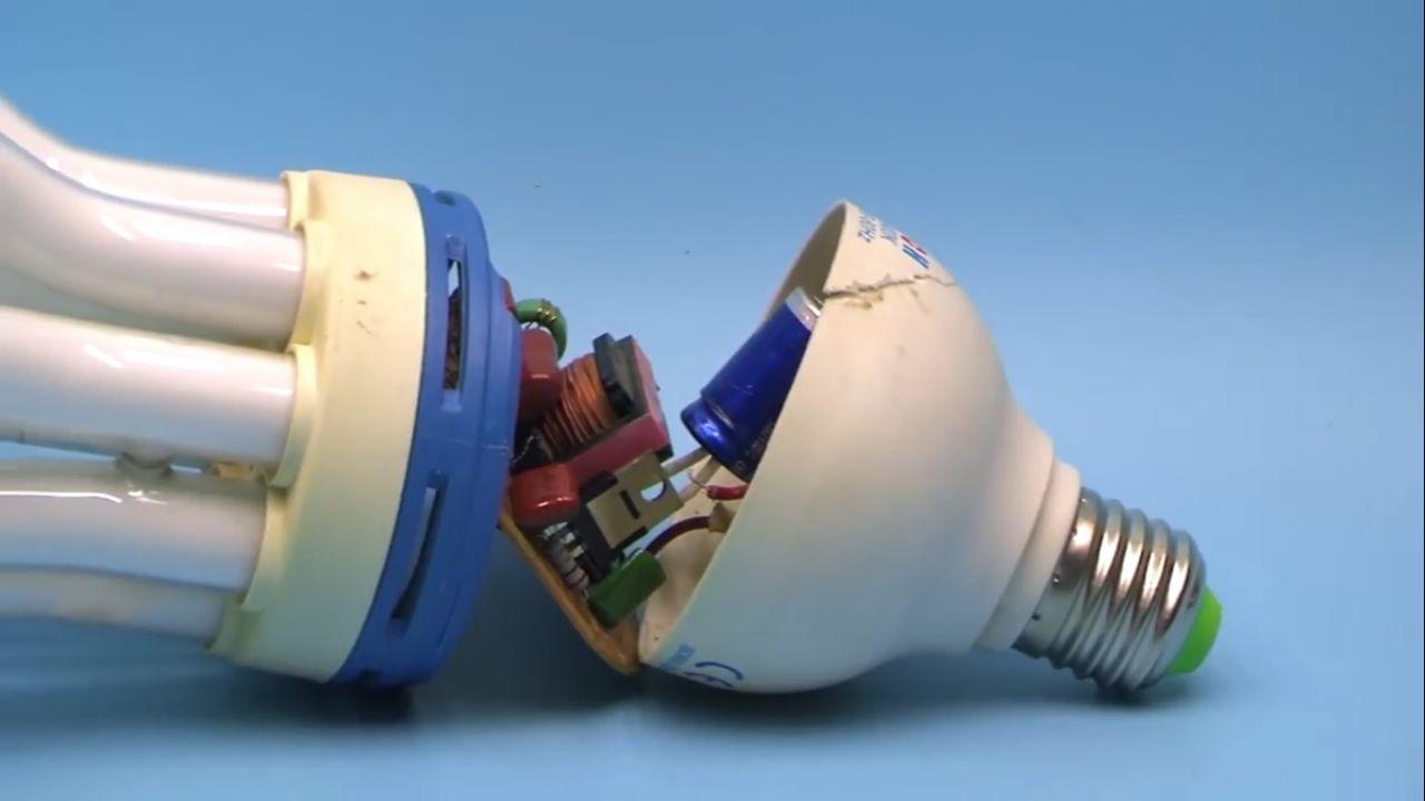 Драйвер для светодиодов из энергосберегающей лампы