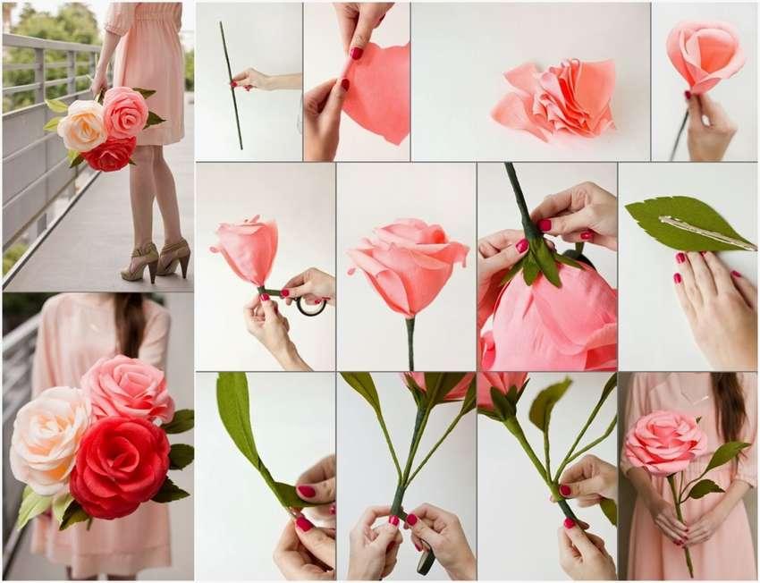 Как сделать цветы из бумаги своими руками - подборка креативных мастер-классов и фото идей