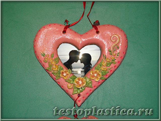 Валентинки из соленого теста | страна мастеров