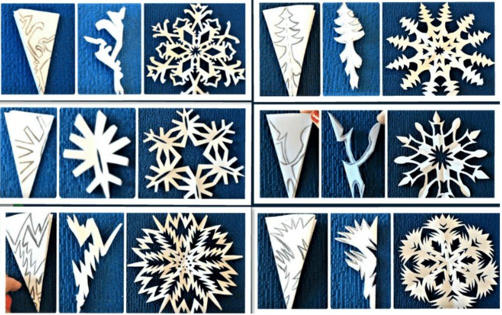 Объемные снежинки из бумаги шаблоны для вырезания