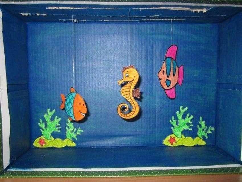 Мастер-класс поделка изделие аквариум в фужере мк банки стеклянные бисер клей материал бросовый материал природный пайетки стразы сутаж тесьма шнур