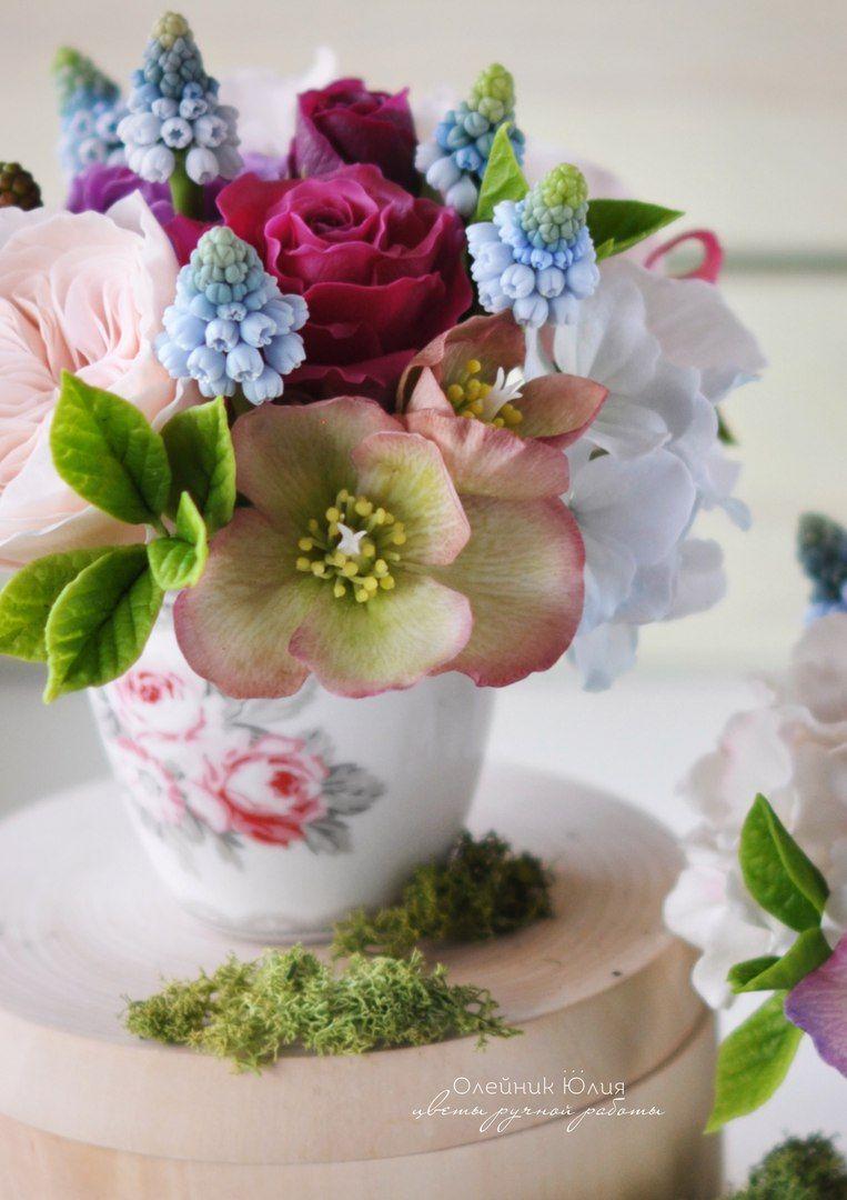 Цветы из холодного фарфора своими руками, мастер класс