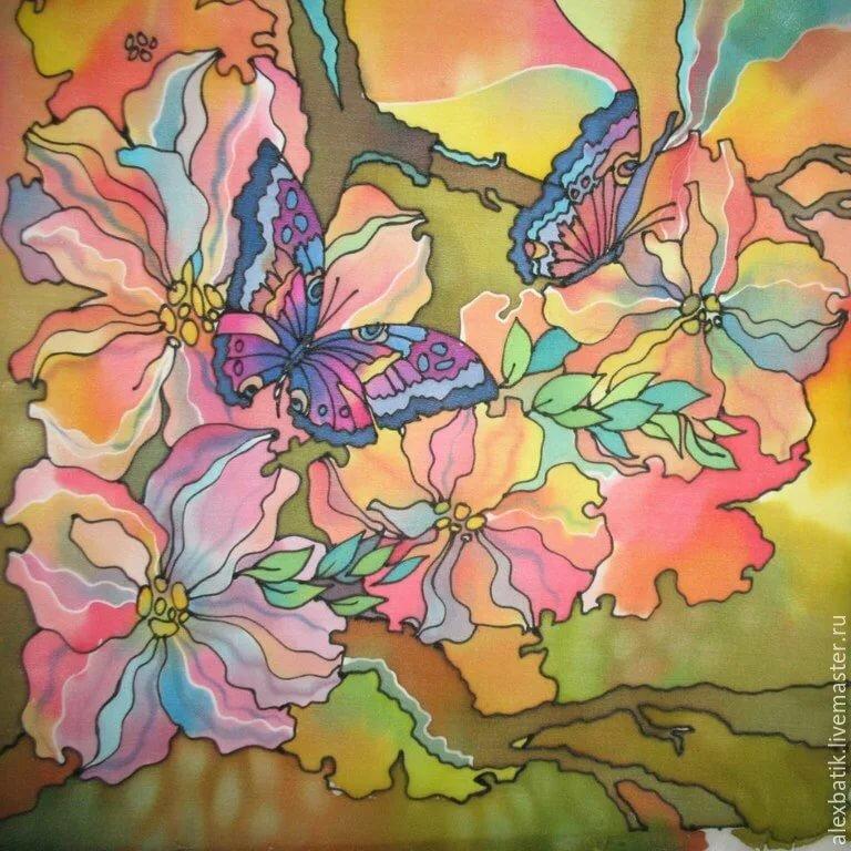 Холодный батик: техника выполнения росписи по ткани, пошаговая инструкция