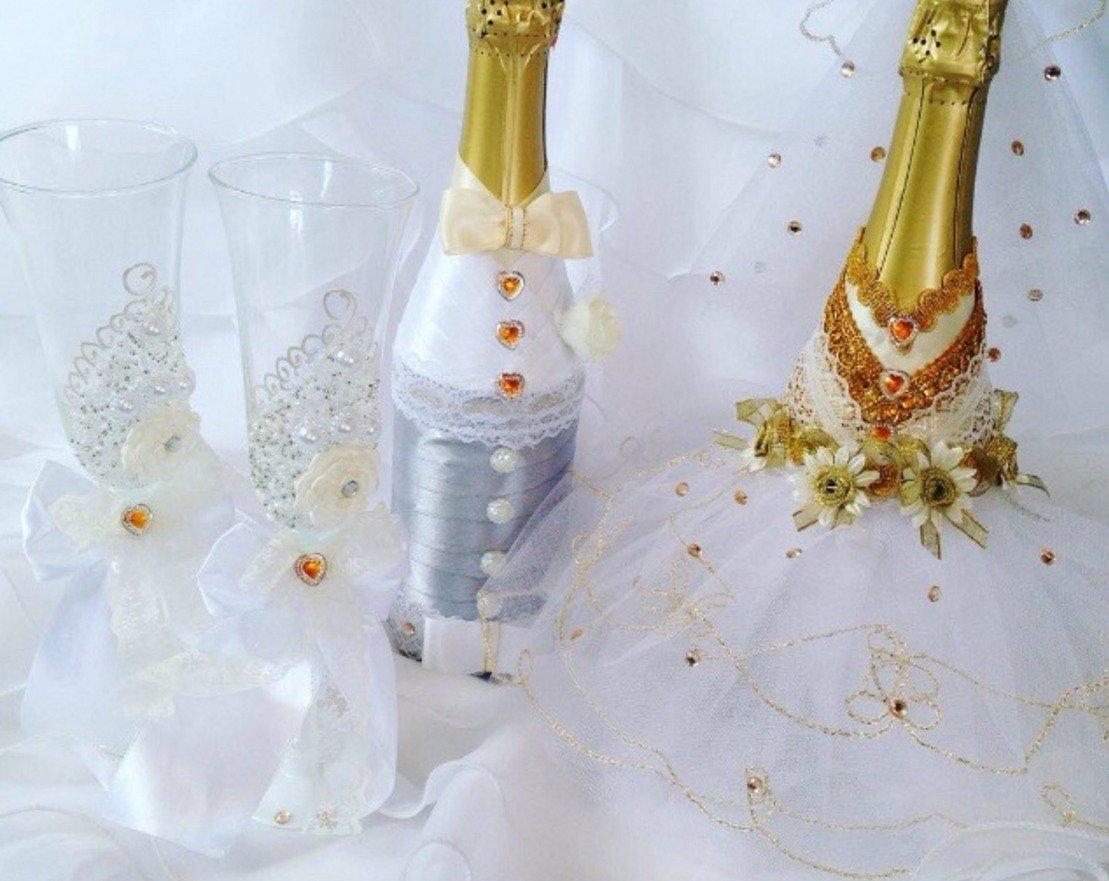 Как украсить бутылку шампанского на новый год: интересные идеи, техника изготовления украшений   праздник для всех