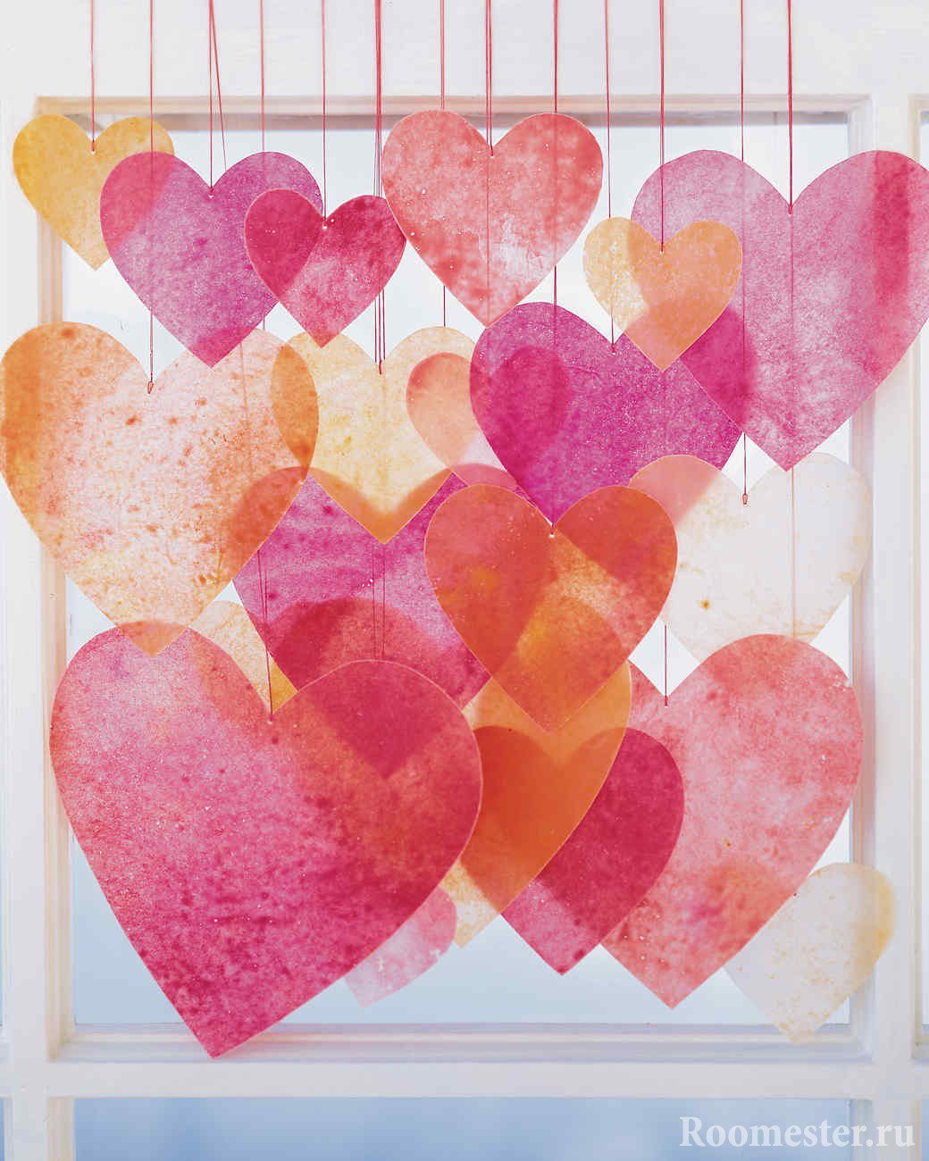 ᐉ гирлянда из теплых сердец ко дню всех влюбленных - своими руками -