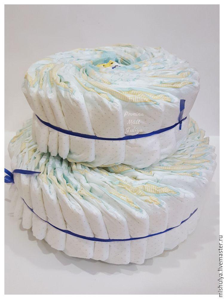 Торт из памперсов (120 фото): мастер-классы и пошаговая инструкция