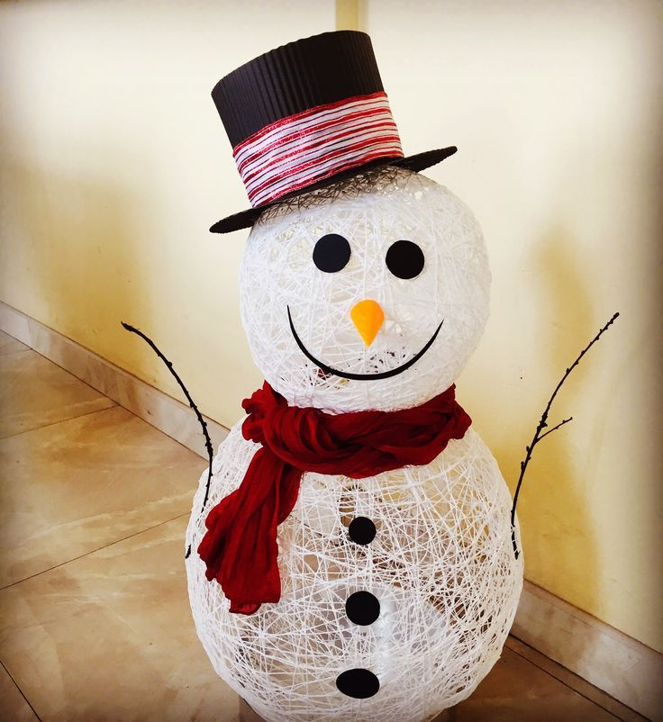 Снеговики своими руками на новый год 2021 из подручных материалов