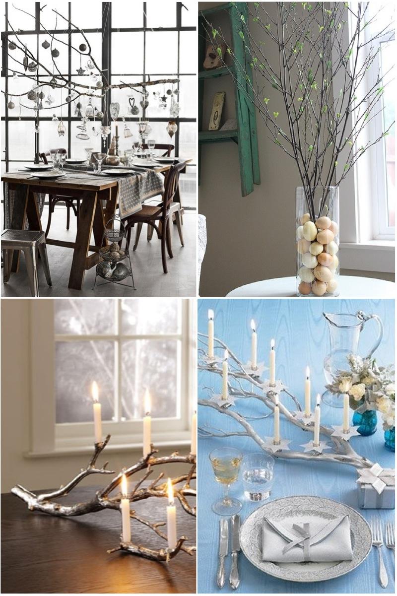 Ветки деревьев в интерьере: идеи декора из сухих веток | дом мечты