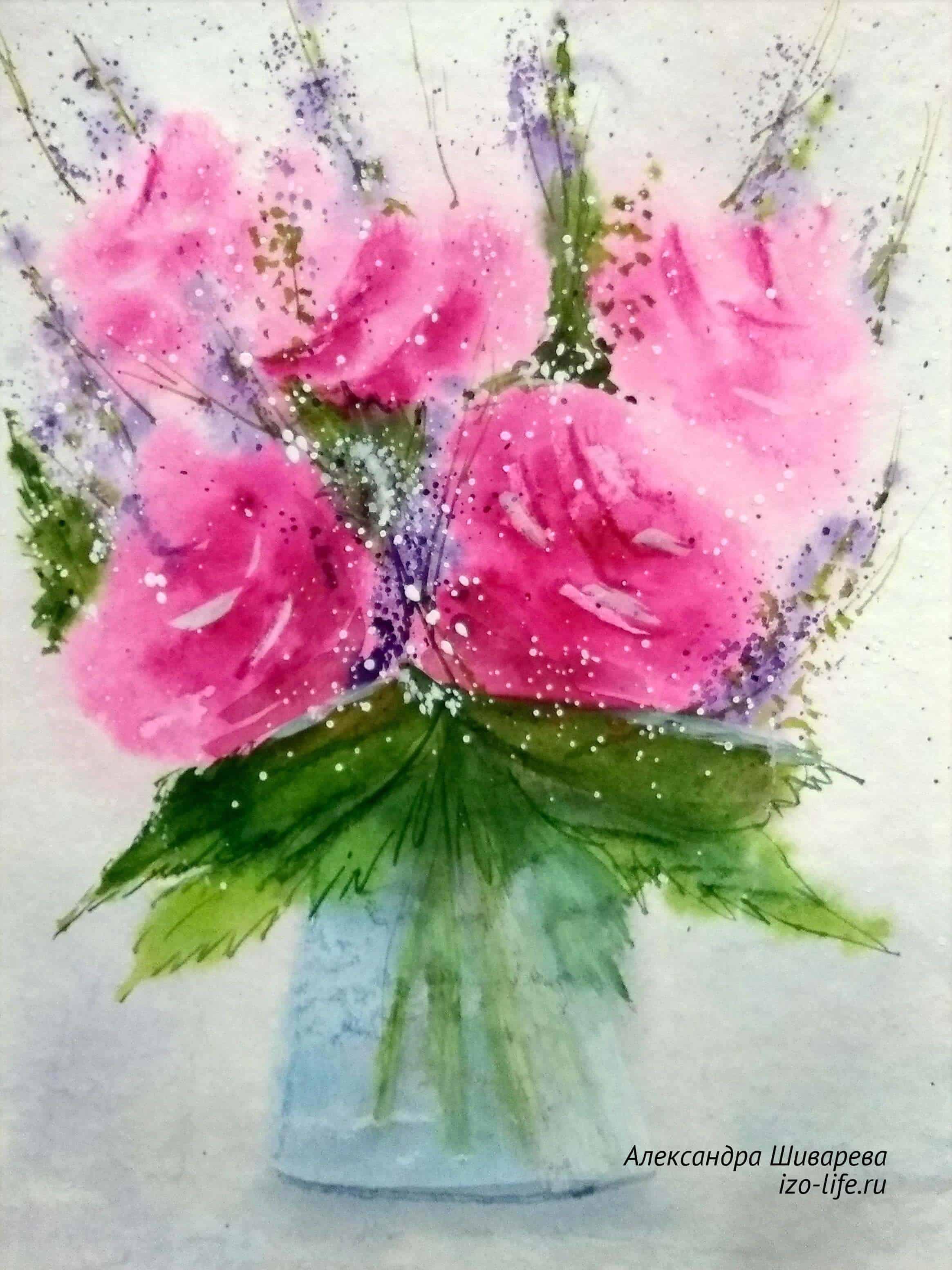 Акварельные цветы акварельная живопись рисование, акварельные цветы, иллюстрация розовый цветок png | hotpng