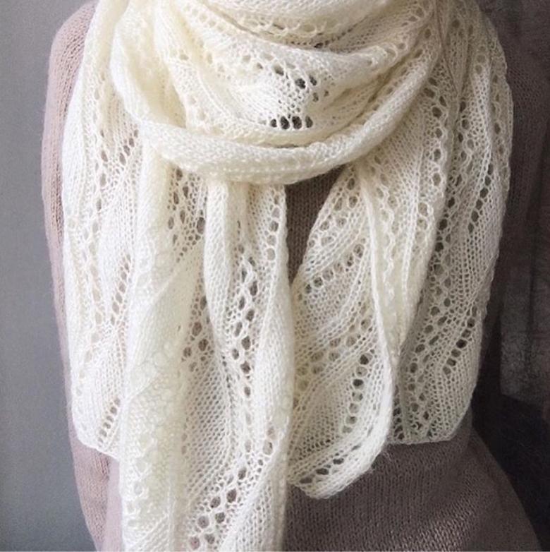 Схемы ажурного шарфа крючком и спицами для женщин и детей