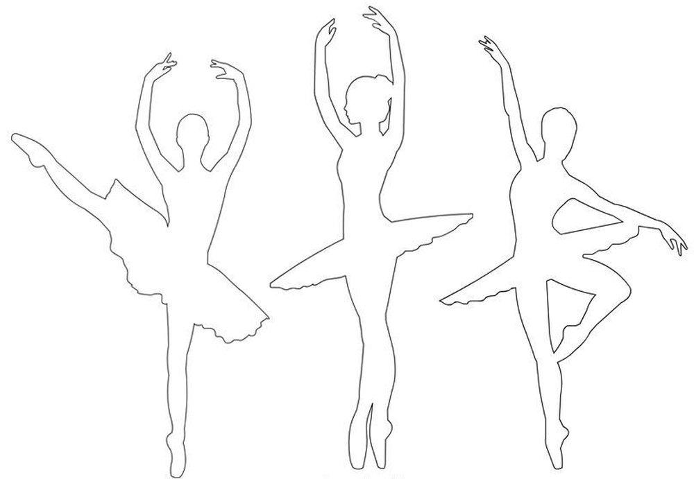 Балерина из бумаги - как сделать, силуэт и шаблоны для вырезания