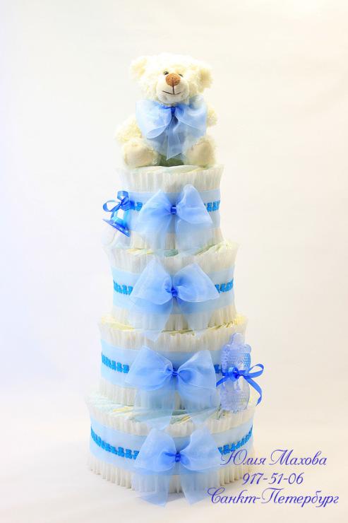 Торт из памперсов в подарок своими руками