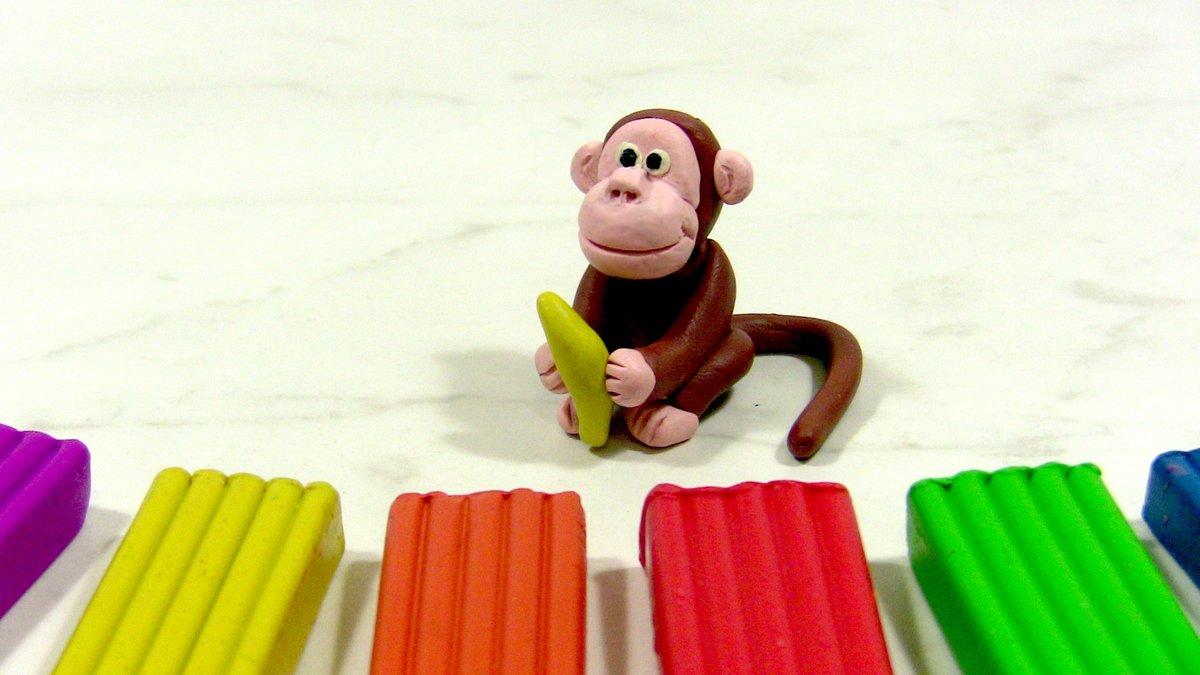 Лепим милую обезьянку