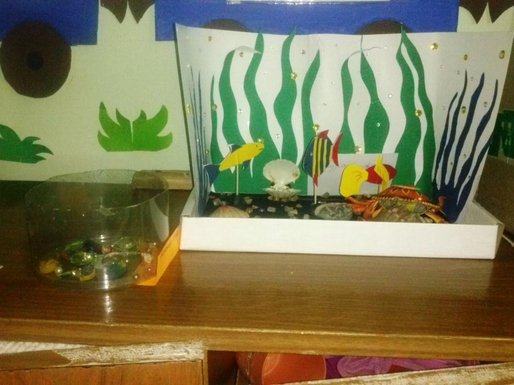 Объемные рыбки для аквариума в детский сад. мастер-класс «аквариум из обувной коробки. создание необычного камина