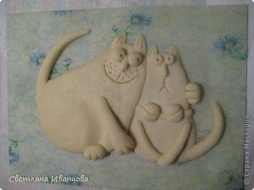 Кошка из соленого теста своими руками пошаговая инструкция