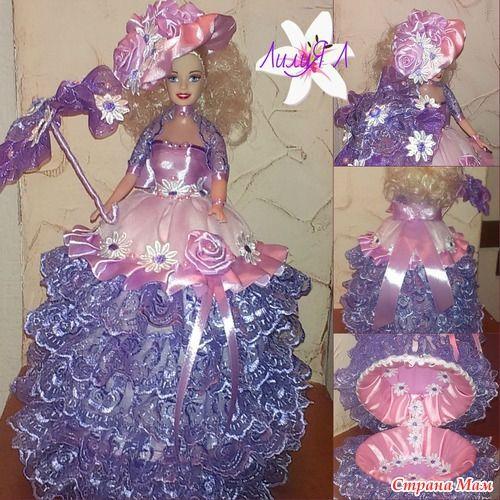 Изготовление куклы-шкатулки из пластиковой бутылки
