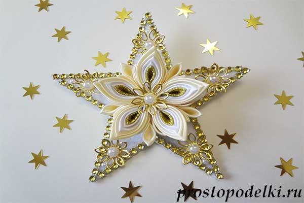 Звёзды на ёлку своими руками