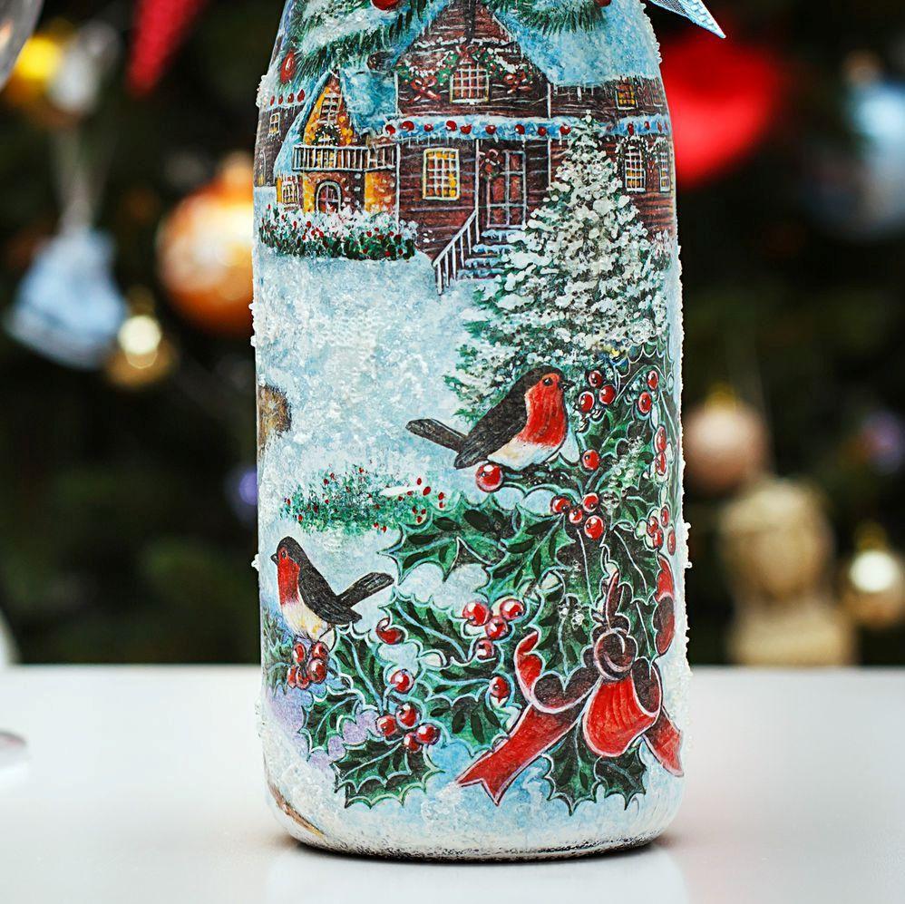 Декупаж - сайт любителей декупажа - dcpg.ru | новогоднее шампанское 2011 на любой вкус