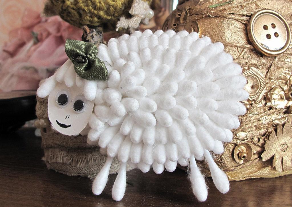 Новогодний салат в виде овцы. новогодняя открытка 2015 своими руками. мастер-класс с пошаговыми фото. новогодняя коробочка из бумаги для подарка своим