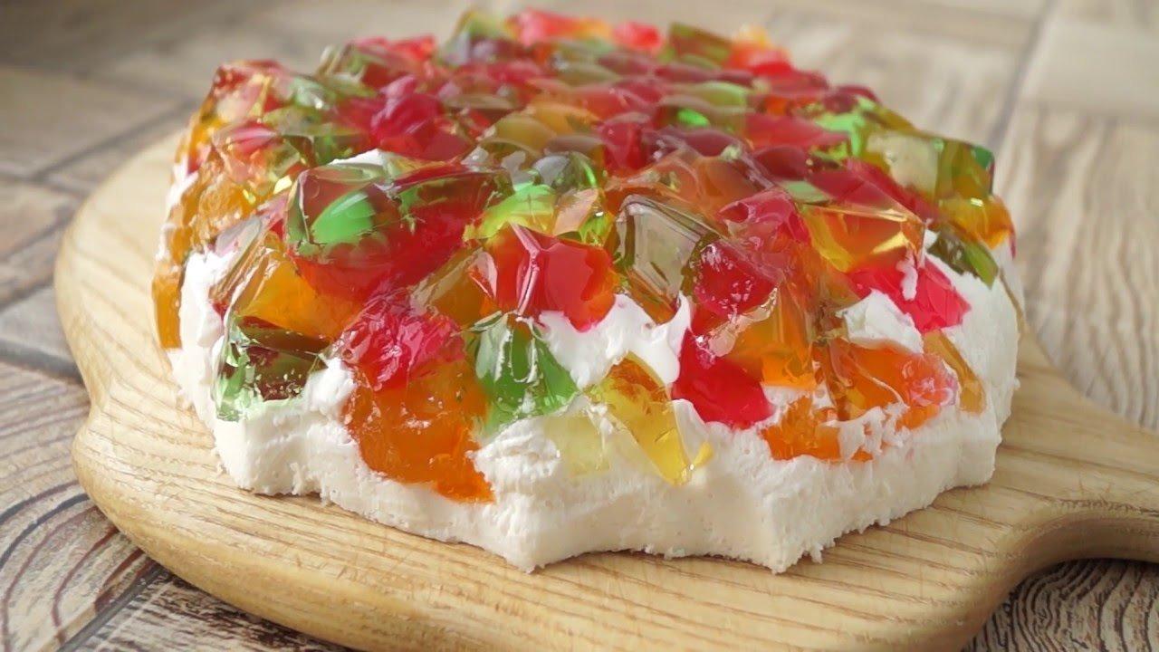 Торт с желе «битое стекло», рецепт с фото — wowcook.net