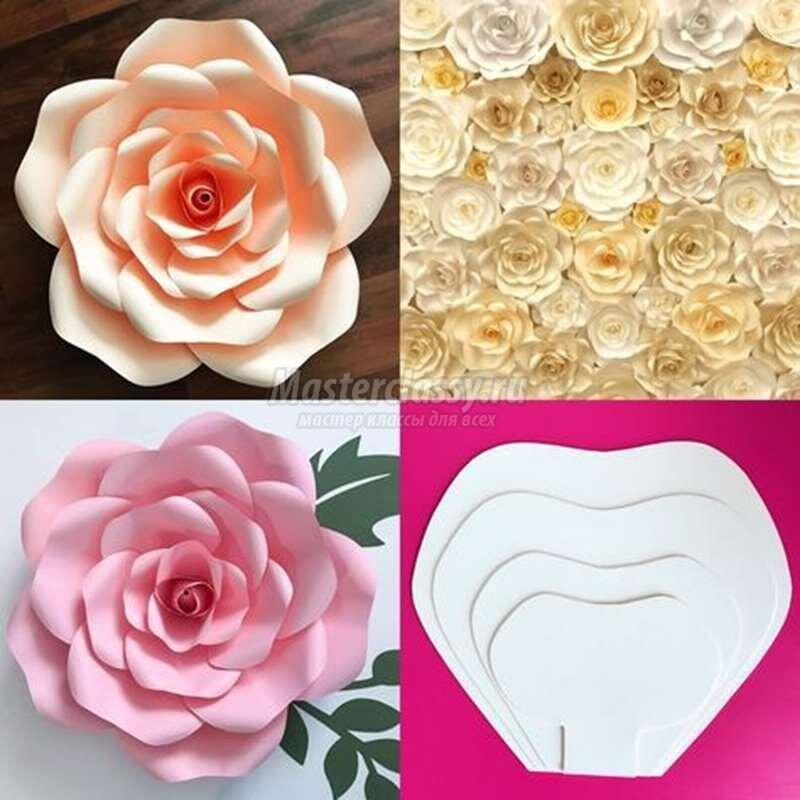 Цветок из бумаги своими руками. пошаговая инструкция оригами, фото, легкие поделки поэтапно для детей, ромашка, роза, шаблоны а4