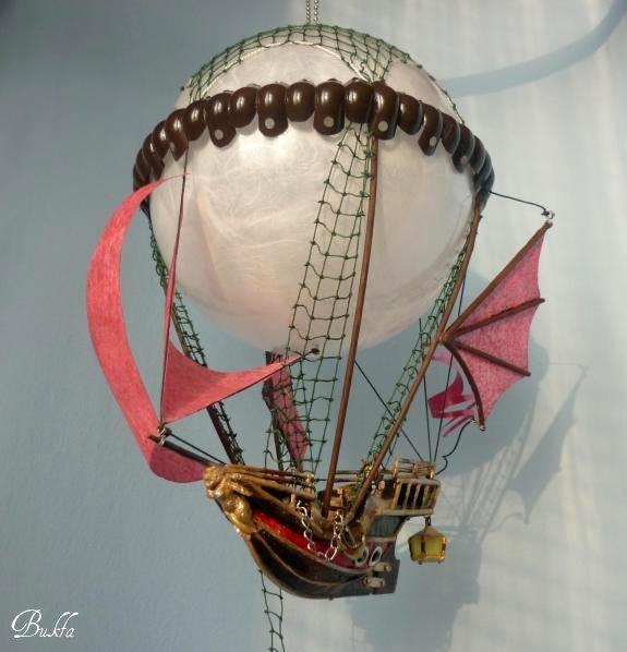Воздушный шар - кораблик из лампочки. мк.   страна мастеров