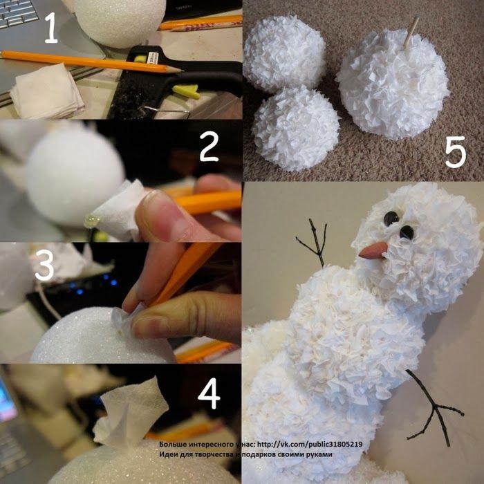 Поделка снеговик своими руками (100 фото) инструкция, как сделать красивую поделку
