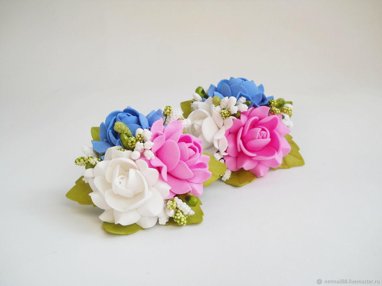 Заколка с цветком